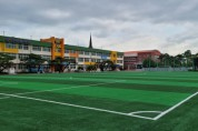 풍기초 축구부, 새로운 인조잔디 운동장에서 여름방학 중 훈련 실시