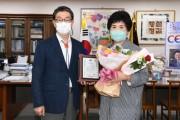 영주시자원봉사대 권오순 대장,  2021년 양성평등주간 유공 도지사 표창 수상